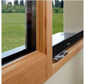 Porte d entr e mixte aluminium bois pose porte d entr e for Porte fenetre bois alu