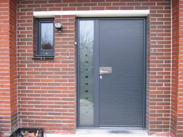 Porte d entr e aluminium installation porte d entr e aluminium pose porte d entr e aluminium - Pose porte entree ...