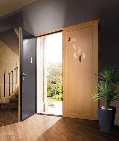 Porte d entr e mixte aluminium bois pose porte d entr e - Porte d entree mixte alu bois ...