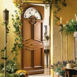 Porte d entr e bois installation porte d entr e bois pose for Porte d entree bois lapeyre